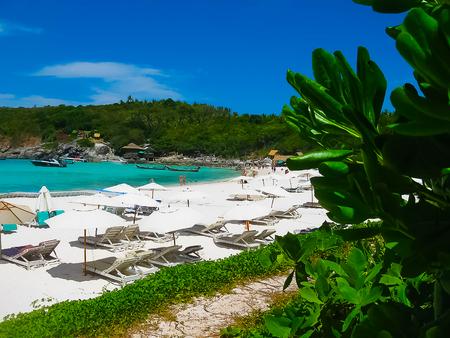 Beautiful beach on a tropical island Koh Racha Yai 写真素材
