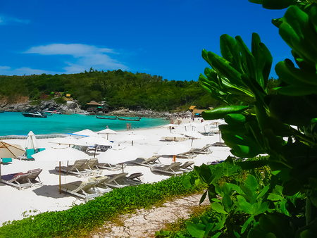Beautiful beach on a tropical island Koh Racha Yai Stockfoto