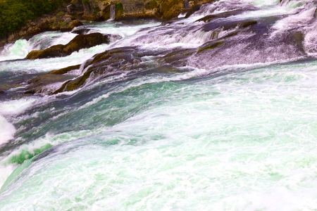 Largest waterfall in Europe by River Rhein in Switzerland
