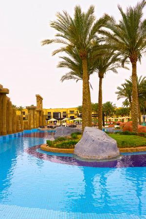 five star: Sharm El Sheikh, Egypt - April 13, 2017: The luxury five star hotel RIXOS SEAGATE SHARM
