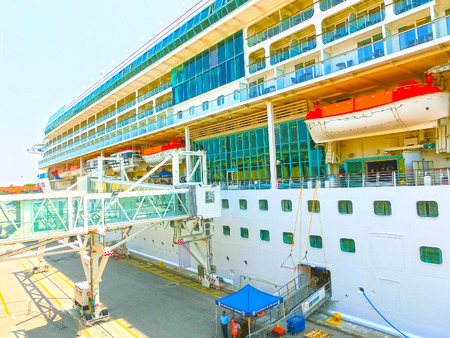 Venice, Italy - June 06, 2015: Cruise ship Splendour of the Seas by Royal Caribbean International