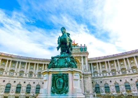 Vienna Hofburg Imperial Palace at day, Austria