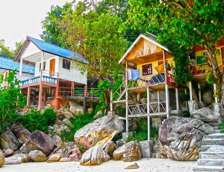 Tropical beach houses in Thailand