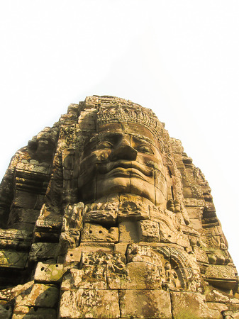 The Bayon stone faces of the people