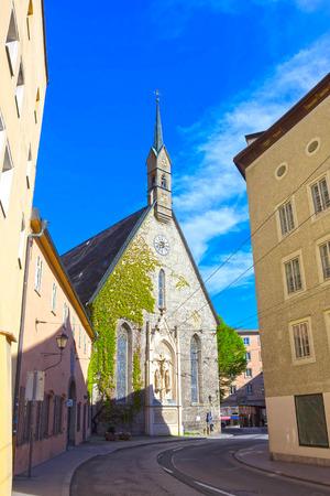 residenz: Salzburg, Austria - May 01, 2017: Old buildings in Old Town Salzburg