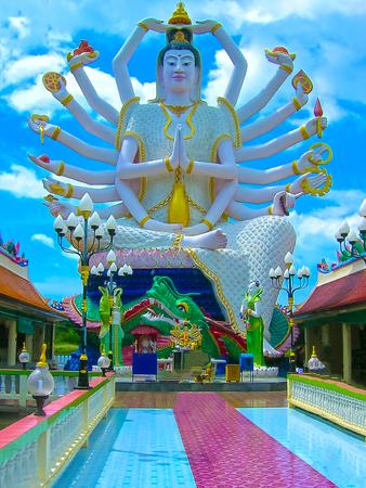 speculative: Wat Plai Laem temple with 18 hands God statue Guanyin , Koh Samui, Surat Thani
