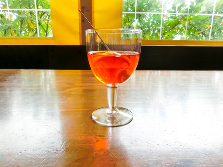 The aperol spritz in glass