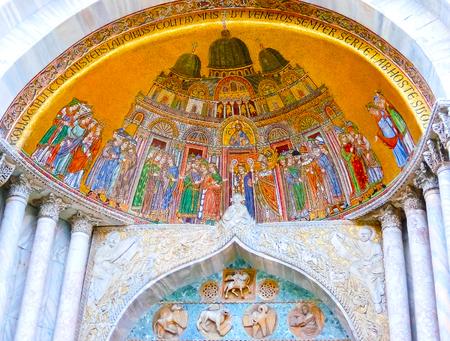 Venice, Italy - May 04, 2017: The detail of St. Mark Basilica