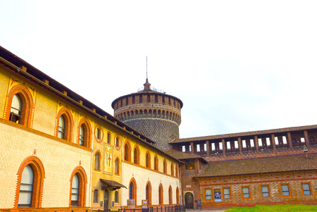 sforzesco: Milan, Italy - May 03, 2017: The Sforza s castle in Milan