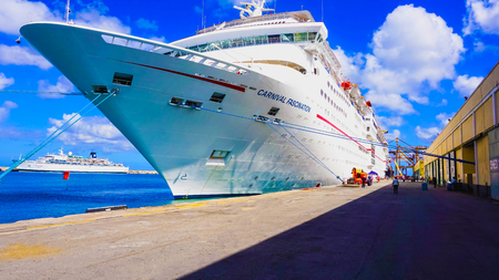 Barbados - May 11, 2016: The Carnival Cruise Ship Fascination at dock