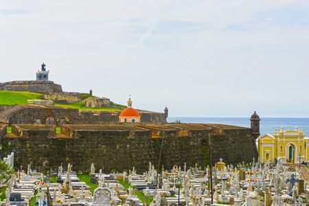 The old Cemetery at San Juan at Puerto Rico