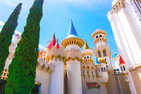 Las Vegas, USA - May 04, 2016: Excalibur Hotel and Casino in , Nevada. Editorial