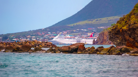 Federation of Saint Kitts and Nevis - May 13, 2016: The Carnival Cruise Ship Fascination at dock