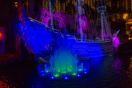Las Vegas, United States of America - May 07, 2016: The outdoor live free show The Sirens of Treasure Island in Las Vegas, Nevada.