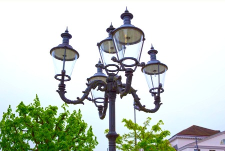 Street lantern at the Luzern at Switzerland Stock Photo