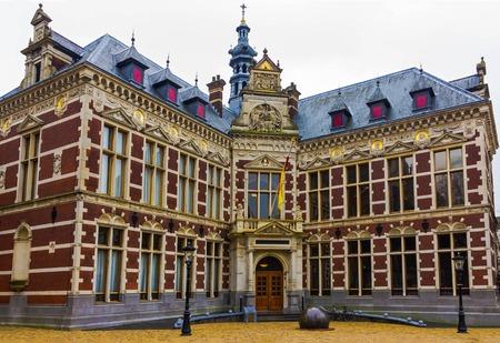 Utrecht University at winter 스톡 콘텐츠