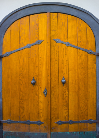 Old door in the Prague