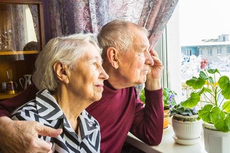 Happy senior couple Banque d'images