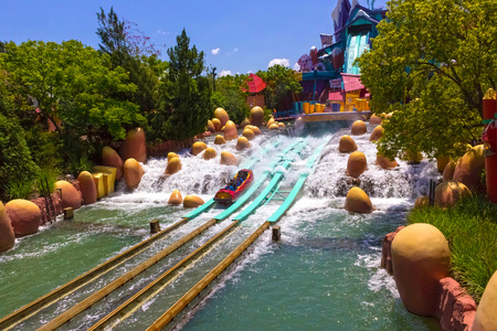 Orlando, Florida, USA - May 09, 2018: Ride Toon Lagoon. Islands of Adventure. Universal.