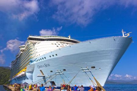 LABADEE, HAITI - MAY 01, 2018: Royal Caribbean, Oasis of the Seas docked in Labadee, Haiti on May 1 2018. Editoriali