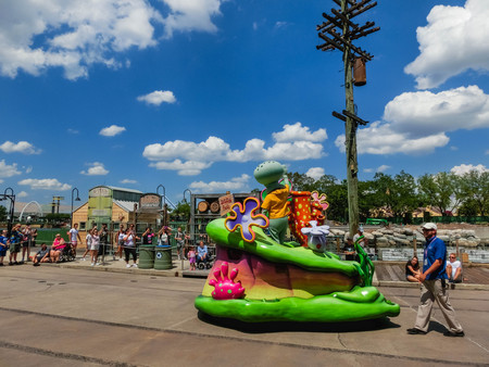 Orlando, USA - May 8, 2018: The large parade with performers at Universal Studio park on May 8, 2018. Redakční