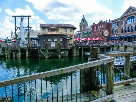 Orlando, Florida, USA - May 10, 2018: the jaws of a shark at Universal Studios Orlando. Universal Studios Orlando is a theme park resort in Orlando, Florida. Editorial