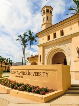 WEST PALM BEACH, Florida -7 de mayo de 2018: Vista de Palm Beach Atlantic University en West Palm Beach, Florida, Estados Unidos.