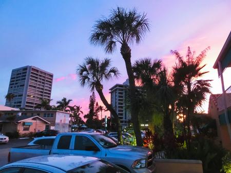 Siesta Key, USA - May 11, 2018: The beach hotel or Siesta beach resort and suites at Siesta Key at Florida, USA