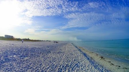 The beach on Siesta key beach with white sand. Stock fotó