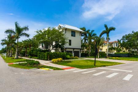 Beautiful road to the beach of Naples, Florida USA