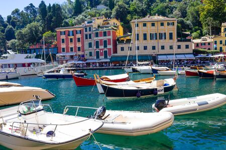Beautiful bay with colorful houses in Portofino, Liguria, Italy Reklamní fotografie