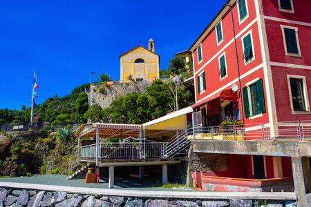 The strret at small Bonassola, La Spezia, Liguria, Italy.