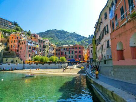 Vernazza Bay With Colorful Boats - Cinque Terre, La Spezia Province, Liguria Region, Italy