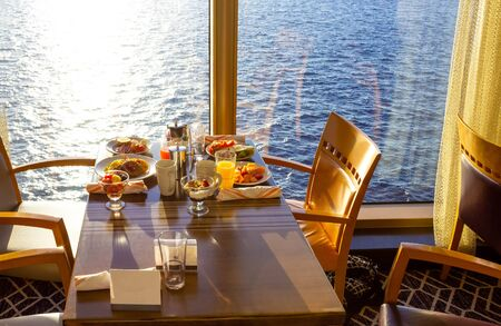Dining Room Buffet aboard the luxury abstract cruise ship Reklamní fotografie