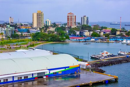 Colon is a sea port on the Caribbean Sea coast of Panama. The city lies near the Caribbean Sea entrance to the Panama Canal.