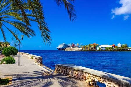 The view of Rif Fort at Willemstad, Curacao, Caribbean