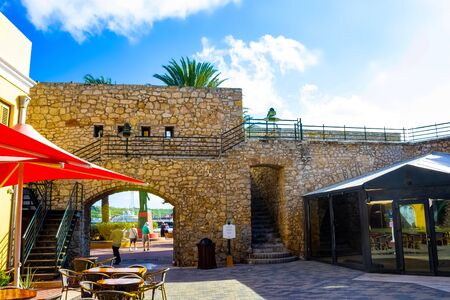 Willemstad, Curacao, Netherlands - December 5, 2019: People at Rif Fort at Willemstad, Curacao, Caribbean Éditoriale