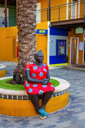 Willemstad, Curacao, Netherlands - December 5, 2019: Sculpture at Rif Fort at Willemstad, Curacao, Caribbean