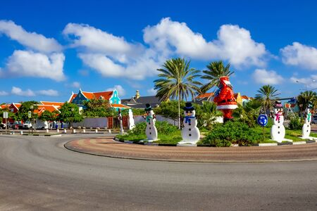 Christmas decorations in Willemstad, the Caribbean Island of Curacao