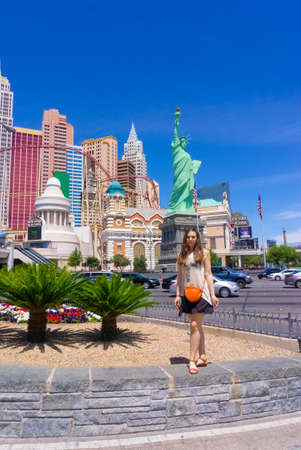 Las Vegas, Nevada, United States of America - May 04, 2016: New York - New York Hotel Casino. New York New York is a luxury hotel and casino, located on the Las Vegas Strip