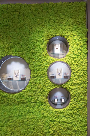New York CITY, United States of America - May 01, 2016: The shop window at Trollbeads store at New York CITY, United States of America on May 01, 2016