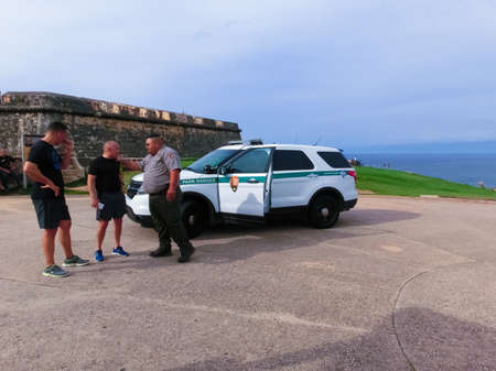 San Juan, Puerto Rico - May 08, 2016: Ford Explorer official car of Park rangers at San Juan, Puerto Rico on May 08, 2016 Editorial