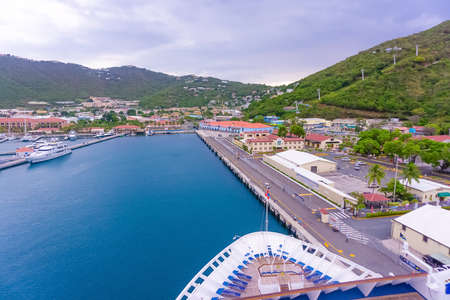 St. Thomas, US Virgin Islands - May 16, 2016: Landscape in St. Thomas, cruise port at Charlotte Amalie at St. Thomas, US Virgin Islands on May 16, 2016. Editorial