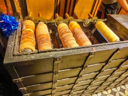 The traditional Czech street food - trdelnik at Prague