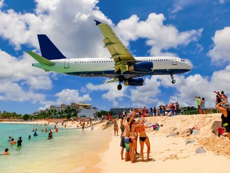 The beach at Maho Bay is one of the world's premier planespotting destinations.
