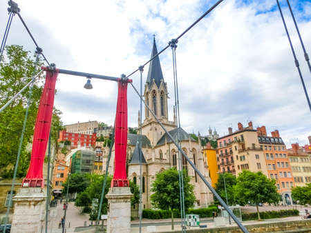 St. Georges Eglise church famous landmark in Lyon city at France