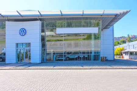 Kyiv, Ukraine - August 15, 2020: Volkswagen car store at Kyiv, Ukraine on August 15, 2020.