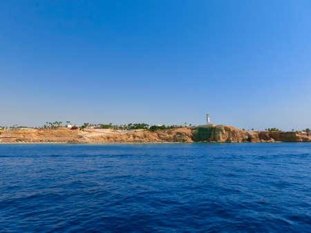 Reefs on Red sea El Fanar beach in Egypt