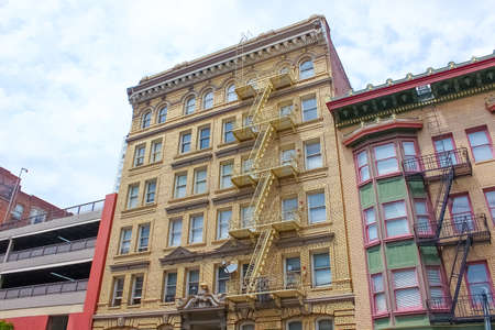 The fire staircase of Building in San Francisco