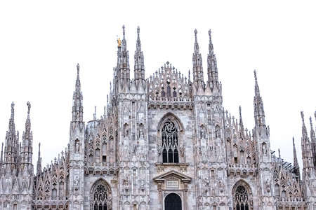 The day view of Milan Cathedral or Duomo di Milano, Italy Standard-Bild